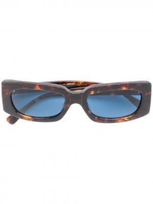 Солнцезащитные очки с эффектом черепашьего панциря Undercover. Цвет: коричневый