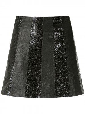 Кожаная юбка Rick Andrea Bogosian. Цвет: черный