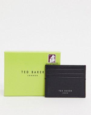 Черная кожаная кредитница -Черный Ted Baker