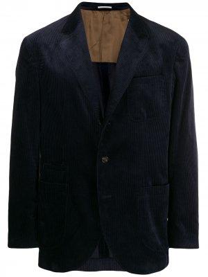 Классический блейзер Brunello Cucinelli. Цвет: синий