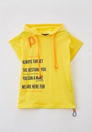 Худи Dali со съемными наушниками. Цвет: желтый