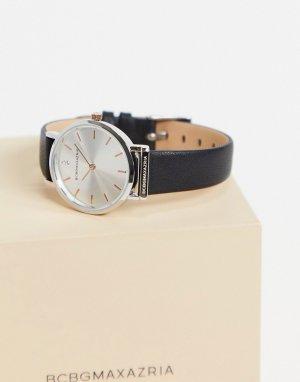 Часы с черным ремешком и серебристым циферблатом BCBG Max Azria-Черный цвет MaxAzria