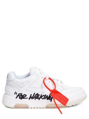 Кроссовки кожаные OFF-WHITE