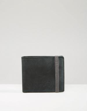 Кожаный бумажник Endure Element. Цвет: черный