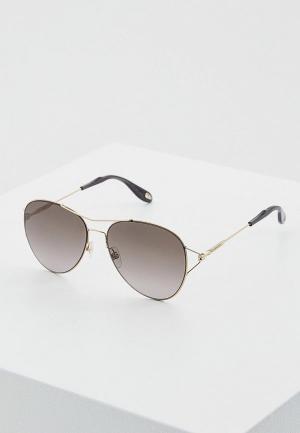 Очки солнцезащитные Givenchy GI007DWIZB70. Цвет: золотой