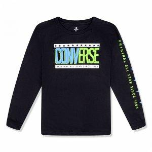 Collegiate Mix Up Long Sleeve Tee Converse. Цвет: черный
