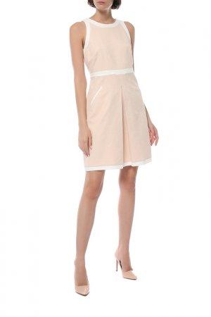 Платье Comma. Цвет: персиковый, белый
