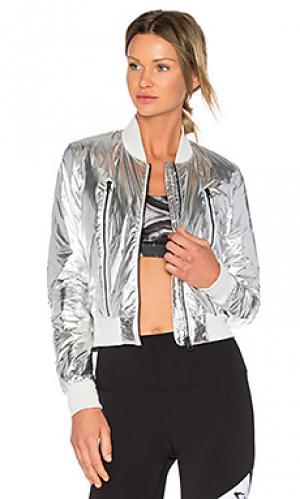 Куртка бомбер off duty alo. Цвет: металлический серебряный