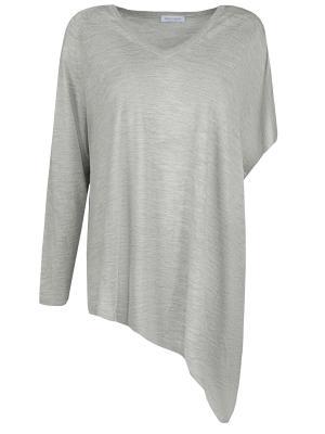 Асимметричный пуловер Gran Sasso. Цвет: серый