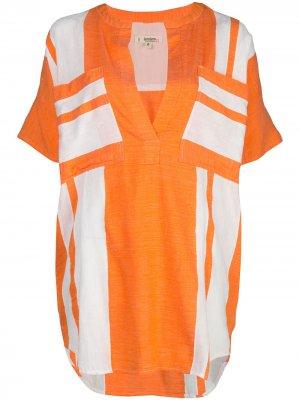 Рубашка-туника Zoya lemlem. Цвет: оранжевый