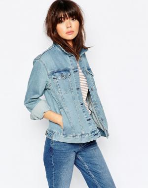 Джинсовая куртка бойфренда Weekday. Цвет: cиний blue vibe