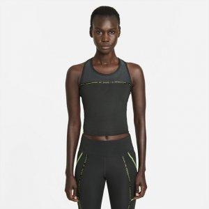 Женская беговая майка Dri-FIT Taped Pack - Серый Nike
