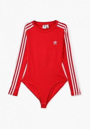 Боди adidas Originals BODY SUIT. Цвет: красный