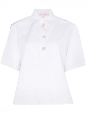 Рубашка с короткими рукавами Carolina Herrera. Цвет: белый