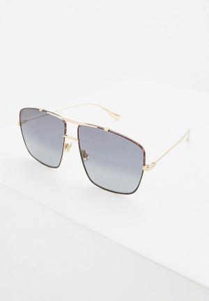 Очки солнцезащитные Christian Dior DIORMONSIEUR2 XWY. Цвет: золотой