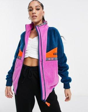 Куртка розового и темно-синего цвета Tramantana 91-Темно-синий Berghaus