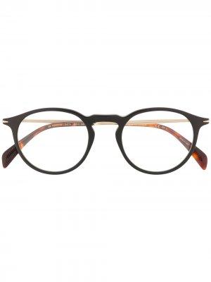Солнцезащитные очки 1003/G/CS в круглой оправе Eyewear by David Beckham. Цвет: черный