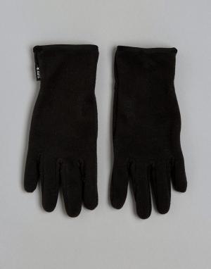 Перчатки с силиконовой вставкой на ладони Barts. Цвет: черный