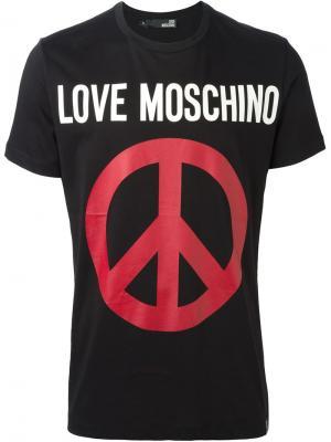 Футболки и жилеты Love Moschino. Цвет: чёрный