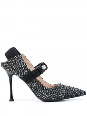 Декорированные туфли Мэри Джейн Alberto Gozzi. Цвет: черный