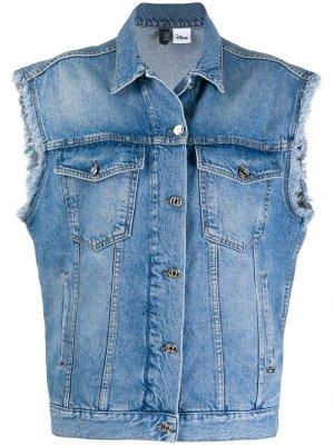 Джинсовая куртка Mickey Mouse без рукавов LIU JO. Цвет: синий