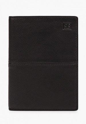 Обложка для паспорта Sergio Belotti. Цвет: черный