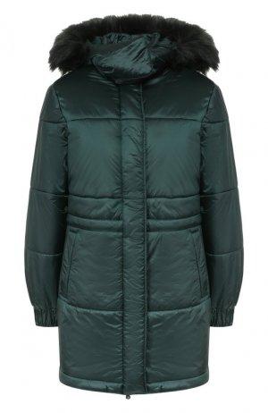 Утепленная куртка Emporio Armani. Цвет: зелёный