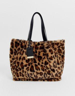 Светло-коричневая большая сумка-тоут Furly-Светло-коричневый Carvela