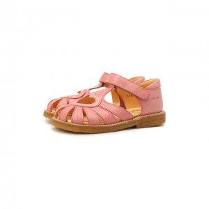 Кожаные босоножки Angulus. Цвет: розовый