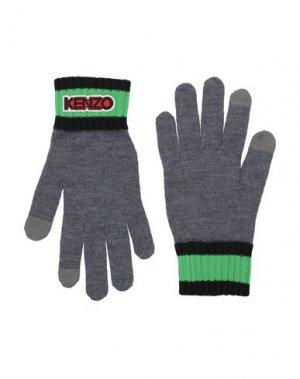 Перчатки KENZO. Цвет: серый