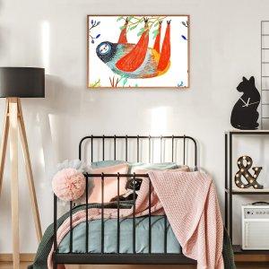 Картины в интерьере с принтом животных без рамки SHEIN. Цвет: многоцветный