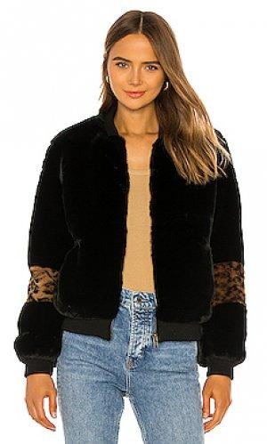 Куртка из искусственного меха jem Apparis. Цвет: черный