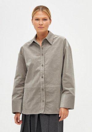 Рубашка Lime. Цвет: серый
