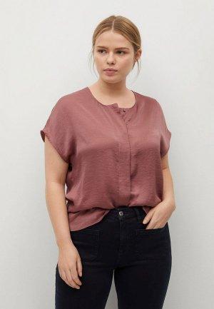 Блуза Violeta by Mango - AGUA. Цвет: розовый