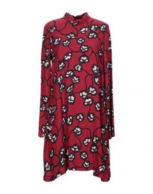 Короткое платье 1-ONE. Цвет: кирпично-красный