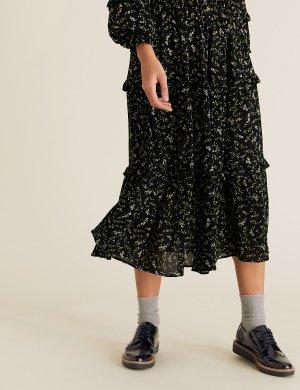 Туфли-броги Insolia Flex® на плоской подошве M&S Collection. Цвет: темно-синий