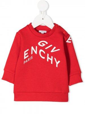 Свитер с логотипом Givenchy Kids. Цвет: красный