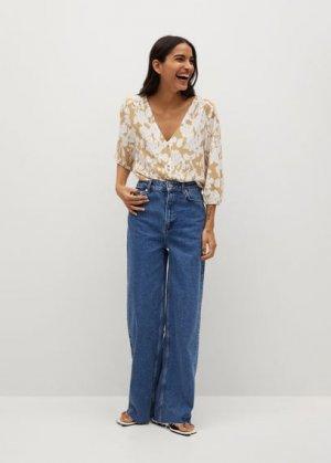 Струящаяся блузка с пуговицами - Daisy-l Mango. Цвет: бежевый