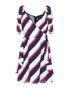 Короткое платье ATOS LOMBARDINI. Цвет: темно-синий