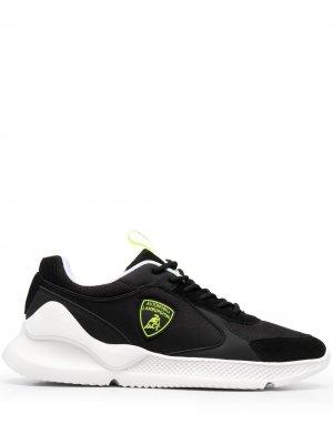 Кроссовки с логотипом Automobili Lamborghini. Цвет: черный