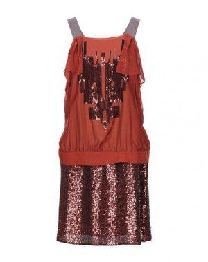 Короткое платье MIGUEL PALACIO for HOSS INTROPIA. Цвет: ржаво-коричневый