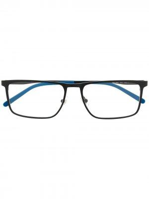 Очки с контрастной отделкой Montblanc. Цвет: черный