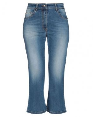 Джинсовые брюки-капри PATRIZIA PEPE. Цвет: синий