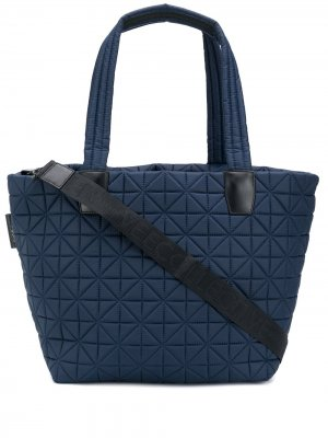 Большая стеганая сумка-тоут VeeCollective. Цвет: синий