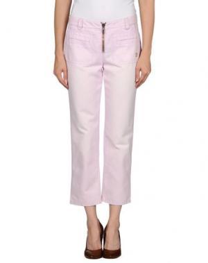 Джинсовые брюки-капри FRANKIE MORELLO. Цвет: розовый