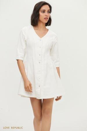 Джинсовое платье на заклепках LOVE REPUBLIC