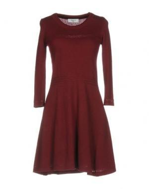Короткое платье AXARA PARIS. Цвет: красно-коричневый