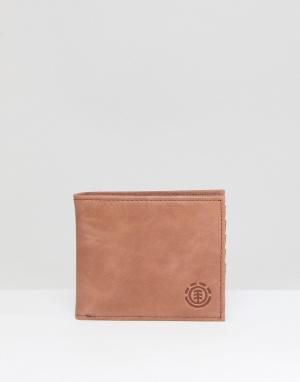 Светло-коричневый бумажник Avenue Element. Цвет: рыжий