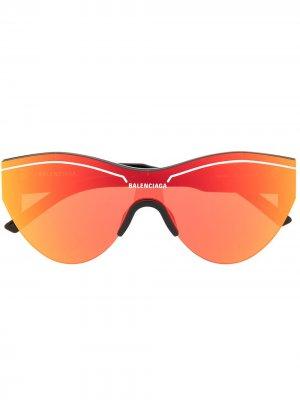 Солнцезащитные очки Ski Cat Balenciaga Eyewear. Цвет: оранжевый