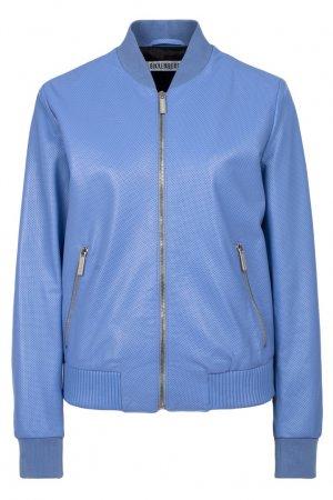 Синяя кожаная куртка Dirk Bikkembergs. Цвет: фиолетовый